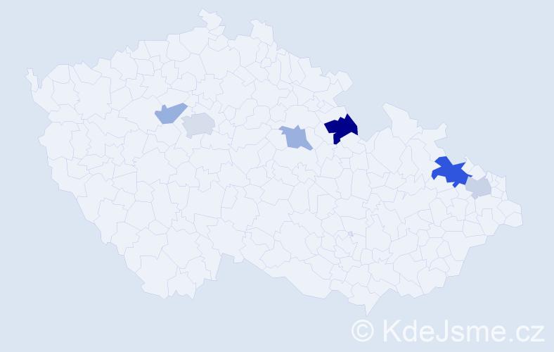 Příjmení: 'Hauptfleisch', počet výskytů 10 v celé ČR
