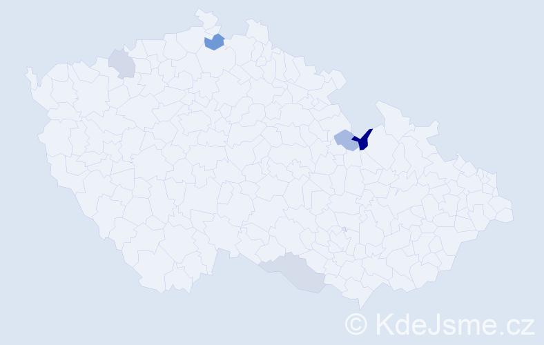 Příjmení: 'Baranowská', počet výskytů 7 v celé ČR