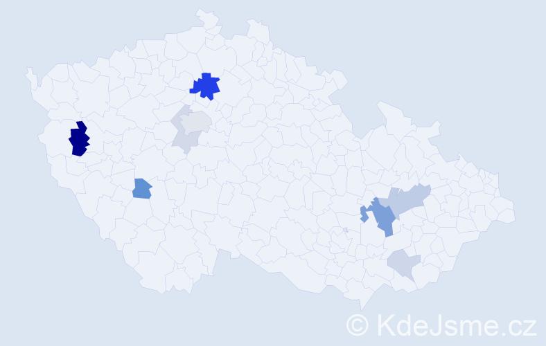 Příjmení: 'Andraščíková', počet výskytů 21 v celé ČR