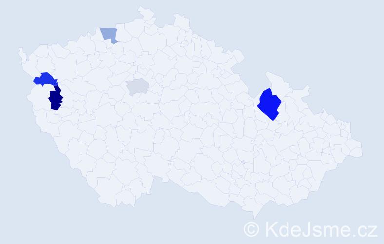 Příjmení: 'Jancyk', počet výskytů 8 v celé ČR
