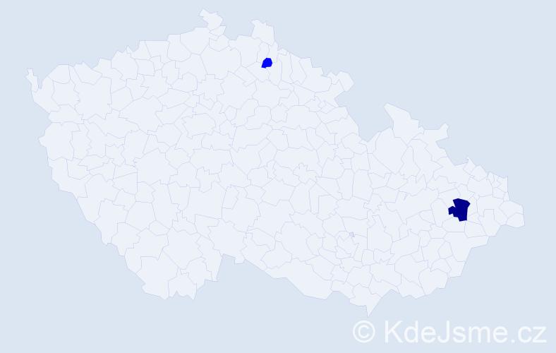 Příjmení: 'Kiesewettrová', počet výskytů 6 v celé ČR