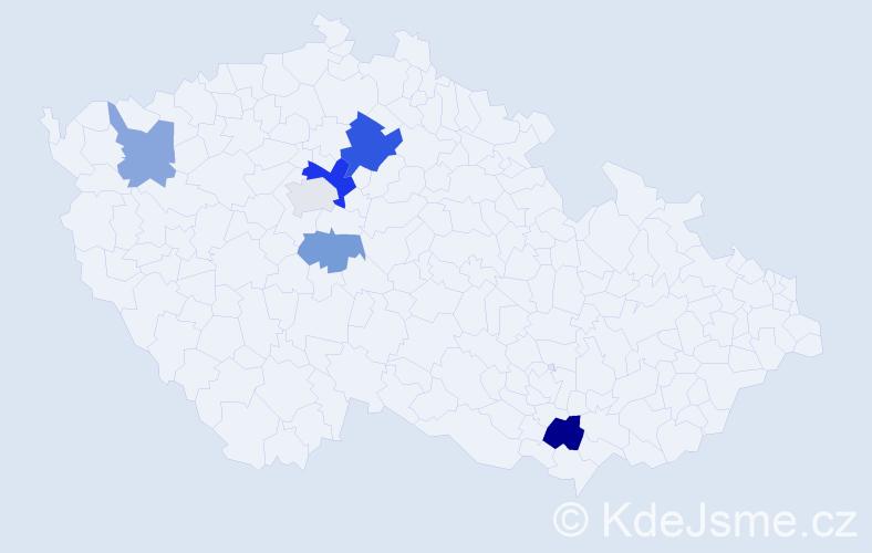 Příjmení: 'Jokš', počet výskytů 11 v celé ČR