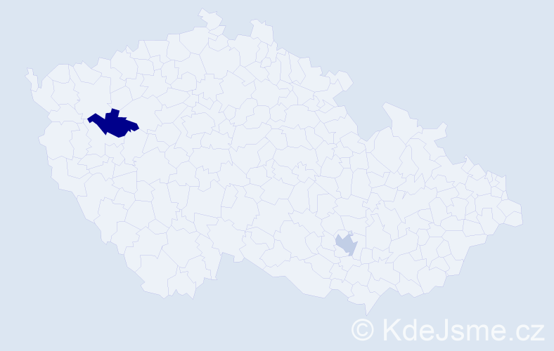 Příjmení: 'Amini', počet výskytů 2 v celé ČR