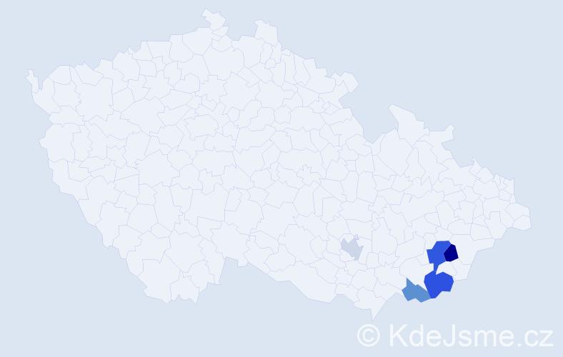 Příjmení: 'Brůzlová', počet výskytů 8 v celé ČR