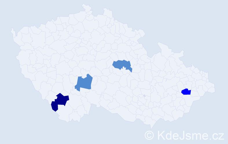 Příjmení: 'Grožaj', počet výskytů 4 v celé ČR