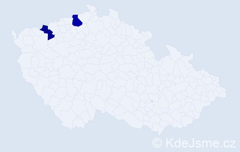 Příjmení: 'Garamiová', počet výskytů 3 v celé ČR