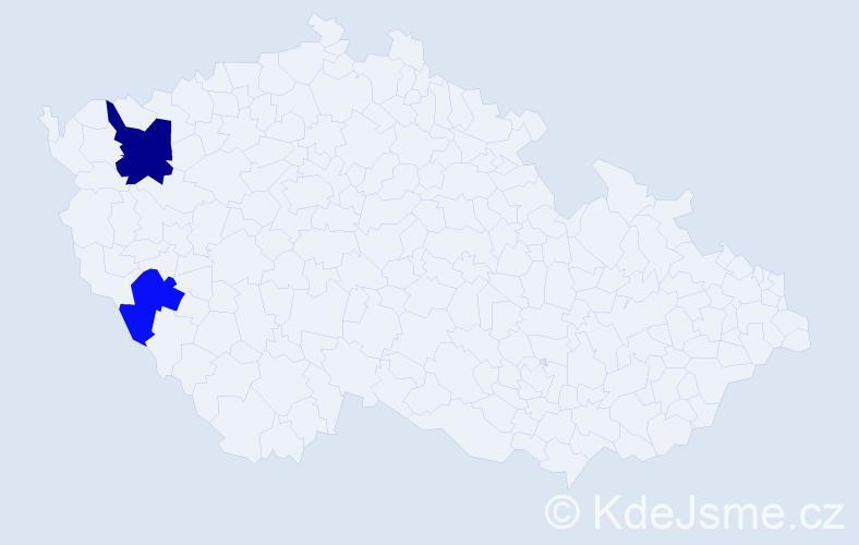 Příjmení: 'Krotzká', počet výskytů 6 v celé ČR