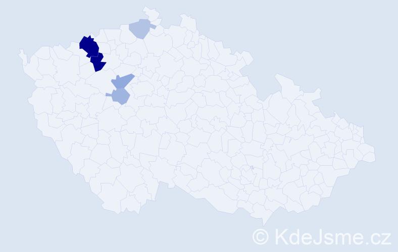 Příjmení: 'Haldovský', počet výskytů 15 v celé ČR