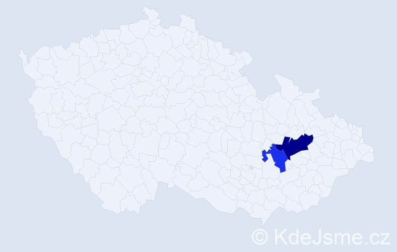 Příjmení: 'Fadgyasová', počet výskytů 3 v celé ČR