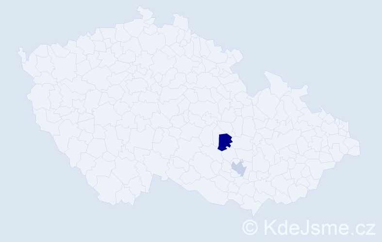 Příjmení: 'Artychová', počet výskytů 2 v celé ČR