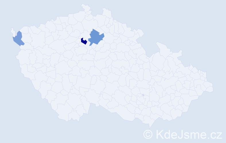 Příjmení: 'Flaska', počet výskytů 5 v celé ČR