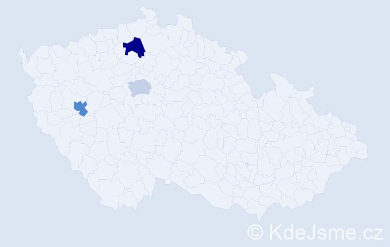 Příjmení: 'Hecková', počet výskytů 3 v celé ČR