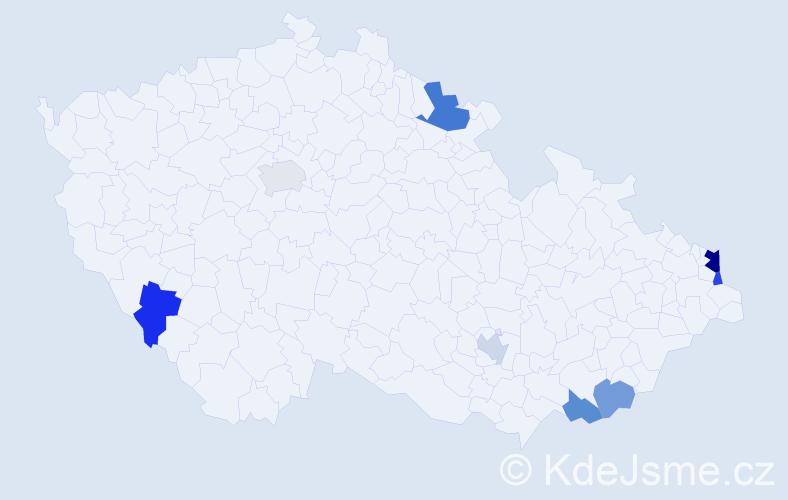 Příjmení: 'Jankowská', počet výskytů 12 v celé ČR