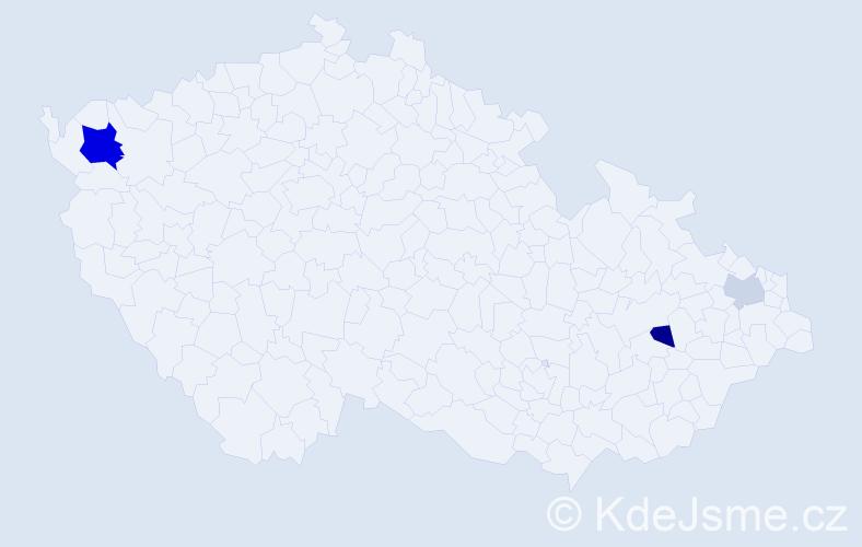 Příjmení: 'Lenklová', počet výskytů 6 v celé ČR
