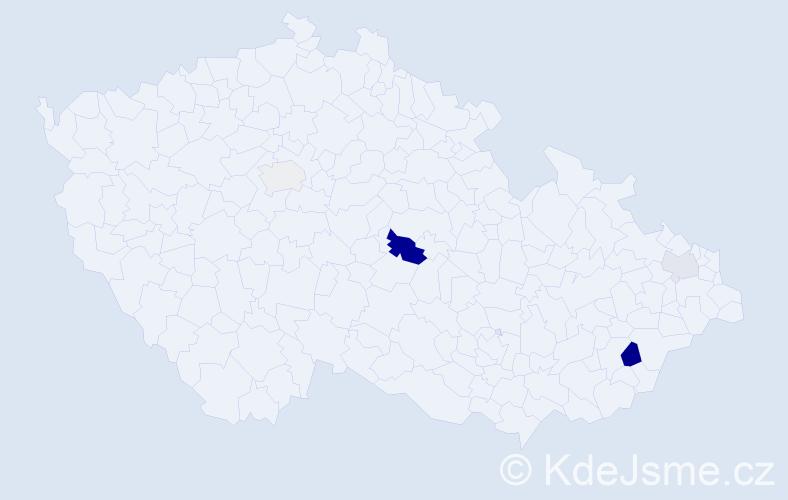 Příjmení: 'Ivanická', počet výskytů 9 v celé ČR