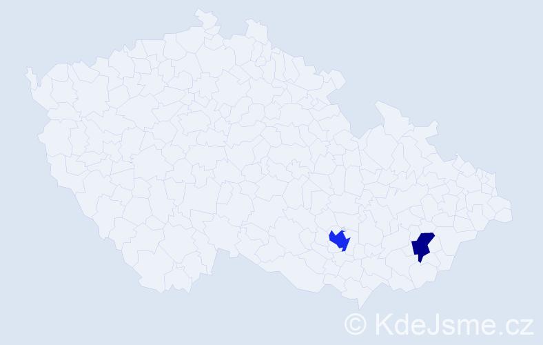 Příjmení: 'Clausová', počet výskytů 3 v celé ČR