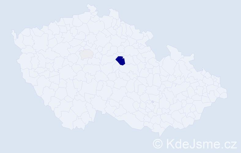 Příjmení: 'Čulik', počet výskytů 4 v celé ČR