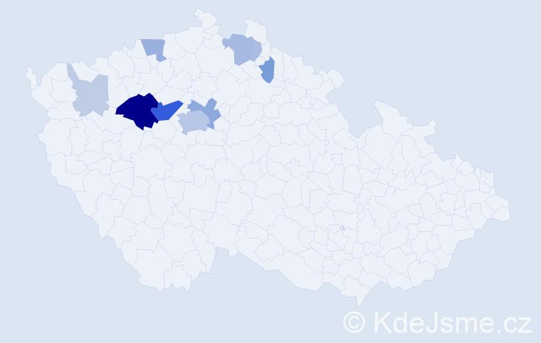 Příjmení: 'Ládek', počet výskytů 33 v celé ČR