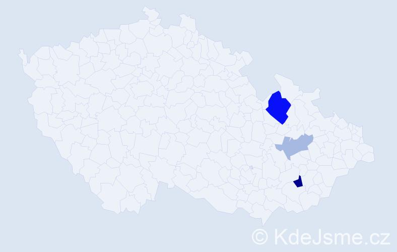 Příjmení: 'Jandrtová', počet výskytů 6 v celé ČR