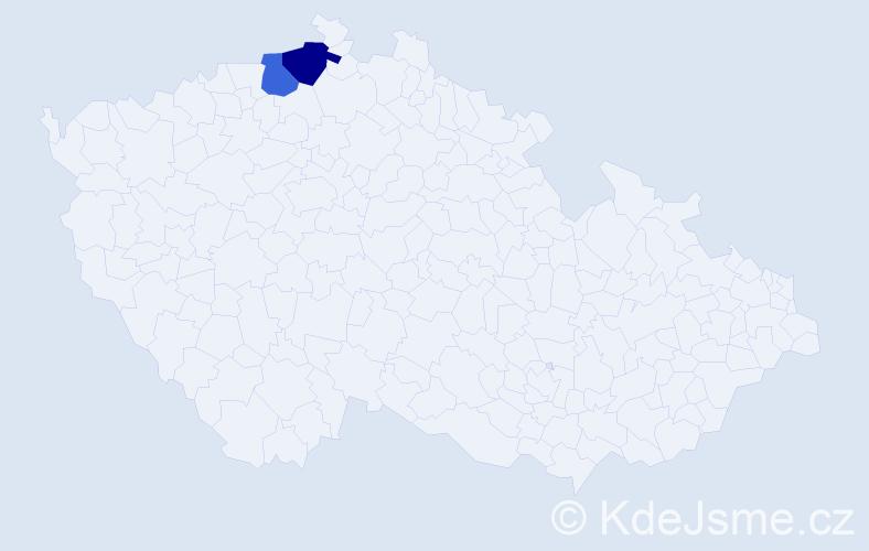 Příjmení: 'Bachiwski', počet výskytů 7 v celé ČR