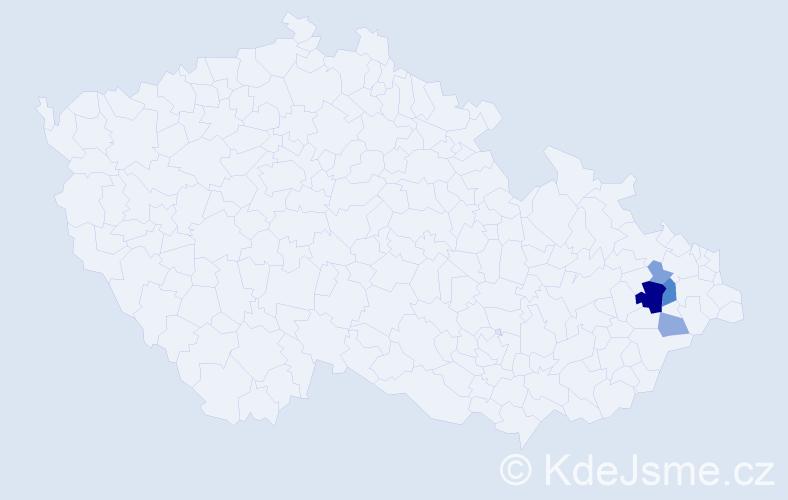Příjmení: 'Divin', počet výskytů 12 v celé ČR