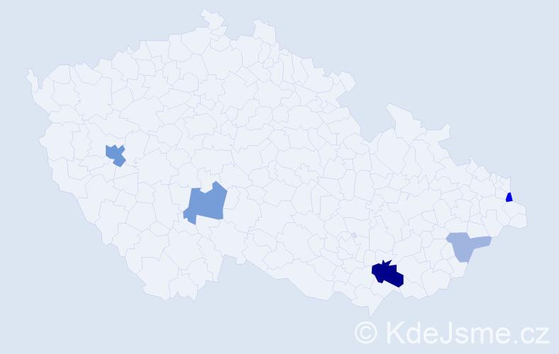 Příjmení: 'Kutná', počet výskytů 14 v celé ČR