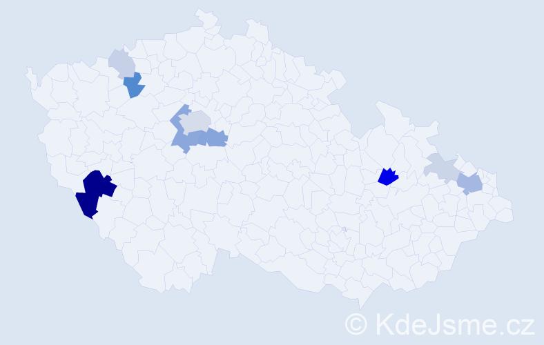 Příjmení: 'Kolcunová', počet výskytů 31 v celé ČR