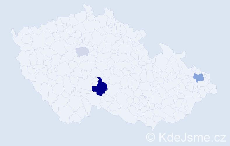 Příjmení: 'Elbers', počet výskytů 9 v celé ČR