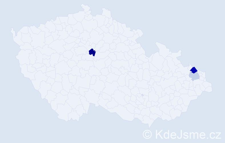 Příjmení: 'Babuláková', počet výskytů 4 v celé ČR