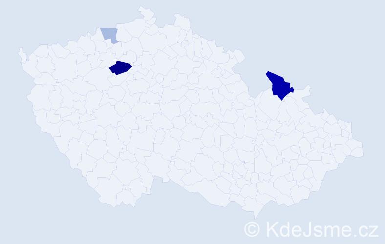 Příjmení: 'Ichim', počet výskytů 7 v celé ČR