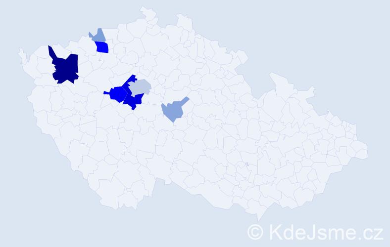 Příjmení: 'Arnoltová', počet výskytů 31 v celé ČR