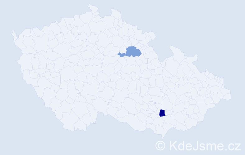 Příjmení: 'Felinger', počet výskytů 7 v celé ČR