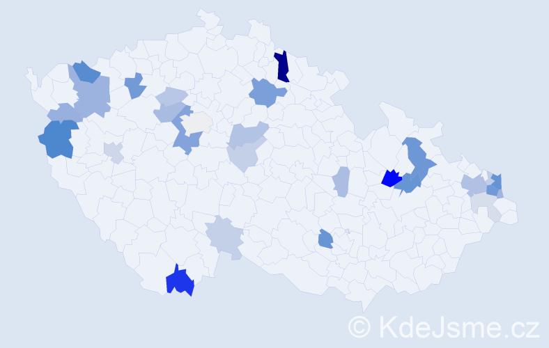 Příjmení: 'Gono', počet výskytů 73 v celé ČR