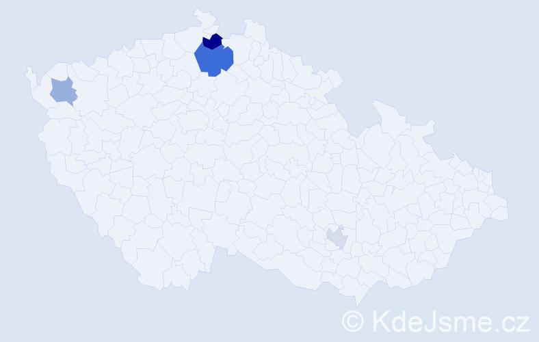 Příjmení: 'Ešpander', počet výskytů 7 v celé ČR