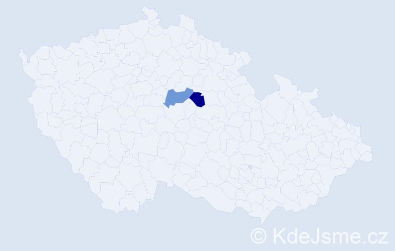 Příjmení: 'Arnožová', počet výskytů 4 v celé ČR