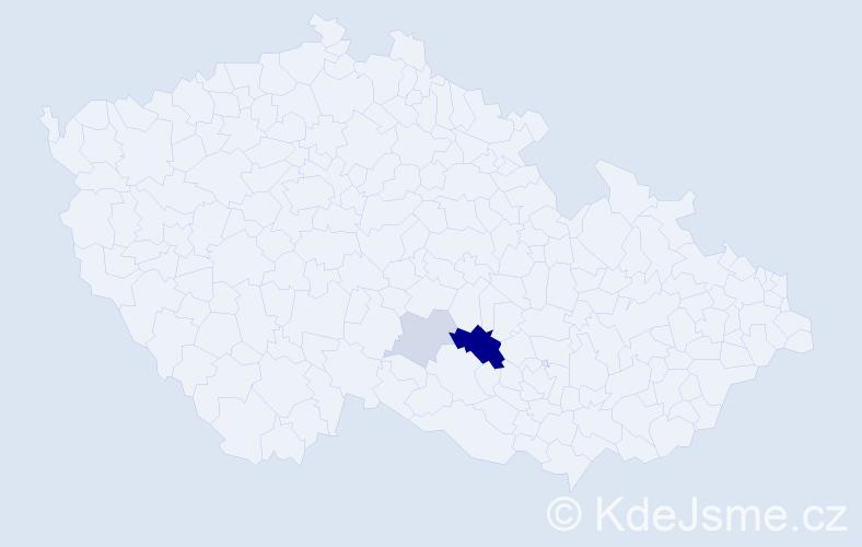 Příjmení: 'Gachi', počet výskytů 8 v celé ČR