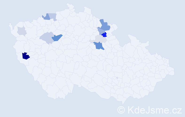 Příjmení: 'Lamer', počet výskytů 34 v celé ČR