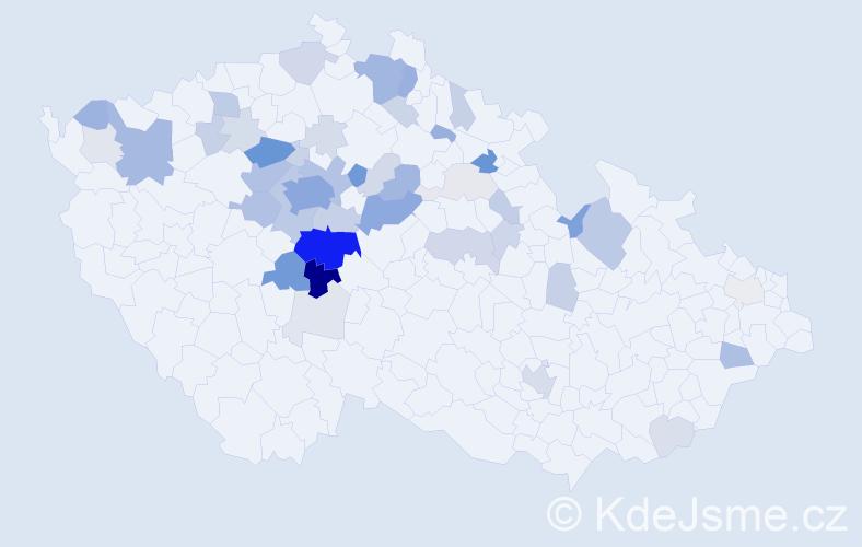 Příjmení: 'Brejlová', počet výskytů 173 v celé ČR