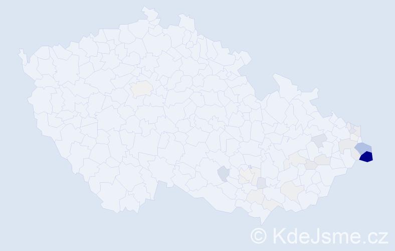 Příjmení: 'Jochymek', počet výskytů 120 v celé ČR