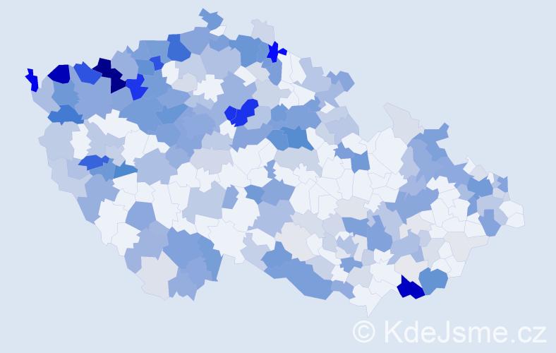 Příjmení: 'Farkašová', počet výskytů 819 v celé ČR
