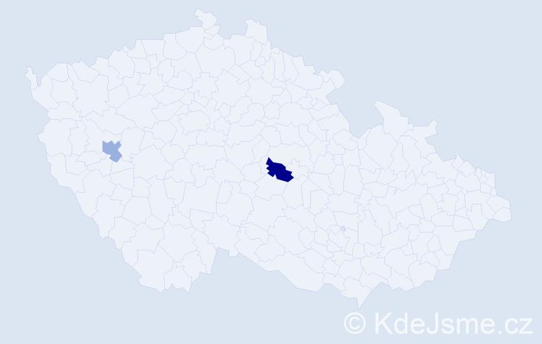 Příjmení: 'Ivankiva', počet výskytů 2 v celé ČR
