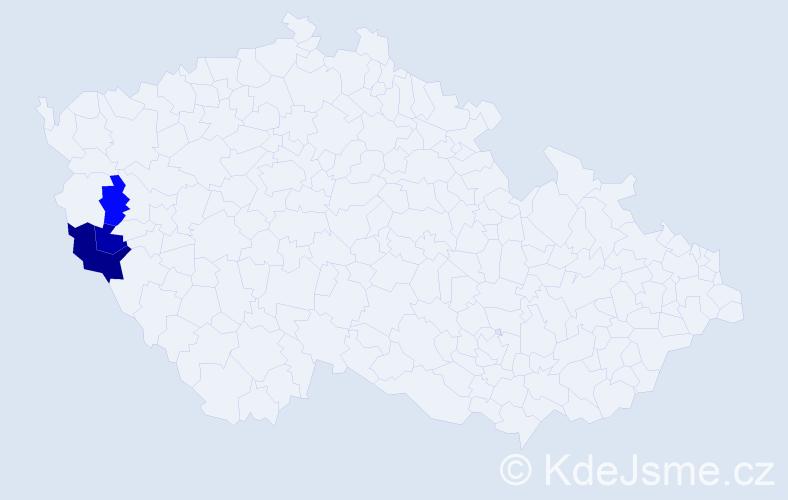 Příjmení: 'Manoleová', počet výskytů 5 v celé ČR