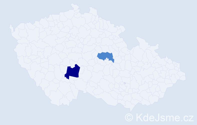 Příjmení: 'Abboud', počet výskytů 3 v celé ČR