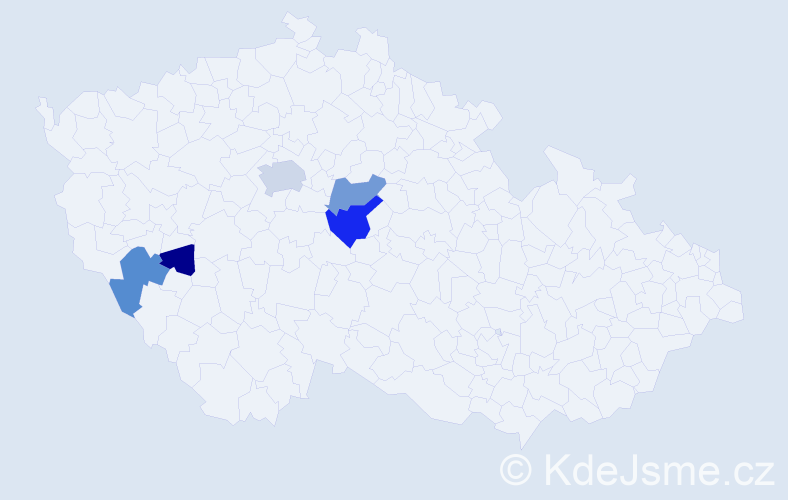 Příjmení: 'Berényi', počet výskytů 12 v celé ČR