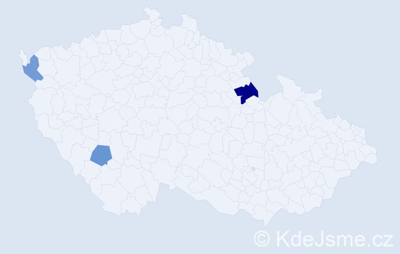 Příjmení: 'Grebennikovová', počet výskytů 4 v celé ČR