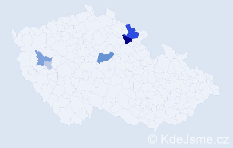 Příjmení: 'Dobromyslová', počet výskytů 9 v celé ČR