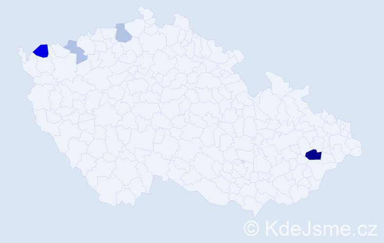 Příjmení: 'Faragó', počet výskytů 12 v celé ČR