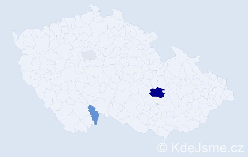 Příjmení: 'Ivkovičová', počet výskytů 8 v celé ČR