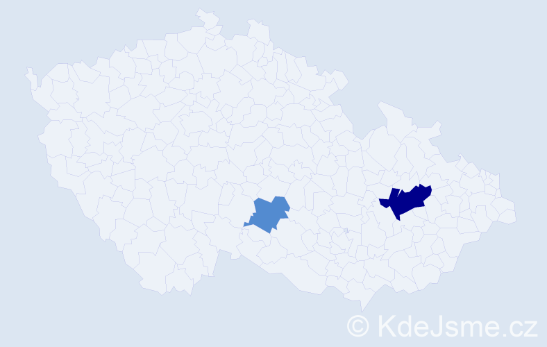Příjmení: 'Čiba', počet výskytů 4 v celé ČR