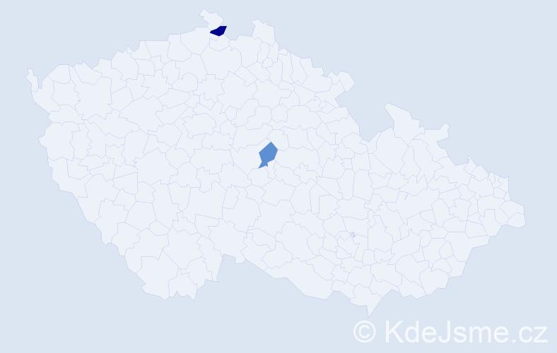 Příjmení: 'Baľo', počet výskytů 3 v celé ČR